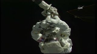 International Space Station U.S. EVA 49 (time lapse)