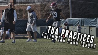 Tua Tagovailoa back in action at Alabama spring practice