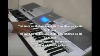 "Hindi Song ""Tum hi ho"" from Aashiqui 2 played on Yamaha PSR I425 with english subtitles"