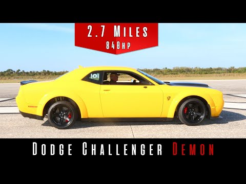 2018 Dodge Challenger SRT Demon (Top Speed Test)