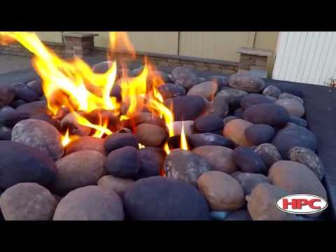 Outdoor Fire Pit Ceramic River Rock