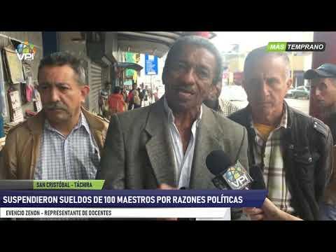 Venezuela - Docentes del Táchira denuncian suspensión injustificada de sueldos - VPItv