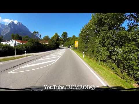 Driving Into Garmisch Partenkirchen To Eibsee Bavarian Zugspitze Railway