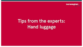 Tips from the experts: Hand luggage