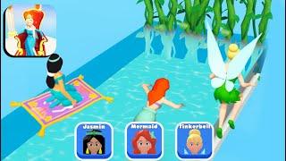 Princess Run 3D 👸🧜♀️🧚 NEW PRINCESSES!! All Levels Gameplay Android,ios screenshot 5