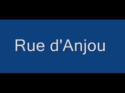 Rue d'Anjou Paris Arrondissement  8e