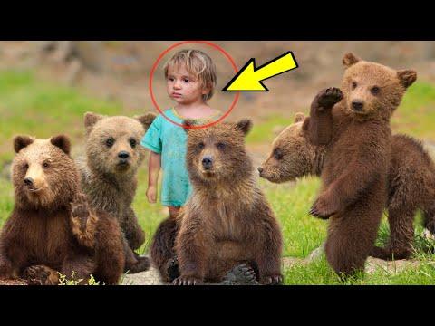Маленькая девочка спасла медвежат от хищных волков и вот как они её отблагодарили...