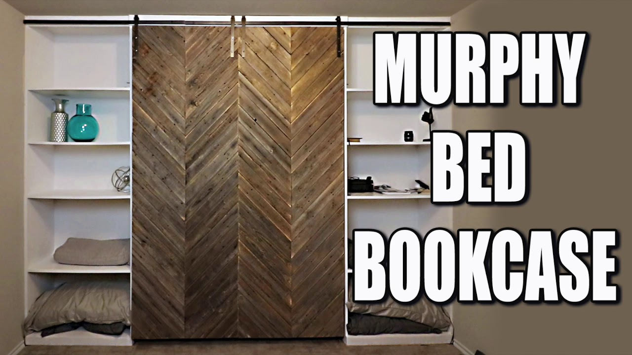 Murphy Bed Diy With Modern Farmhouse Style Barn Door Youtube