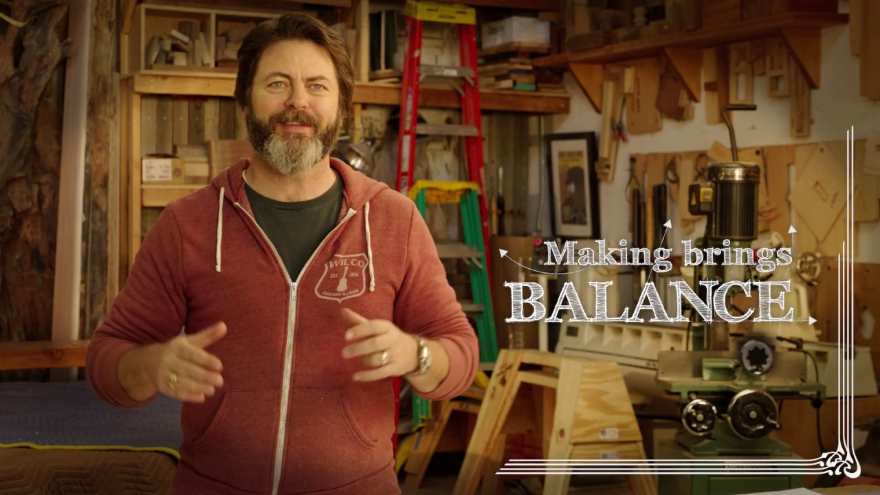 whyimake nick offerman youtube. Black Bedroom Furniture Sets. Home Design Ideas