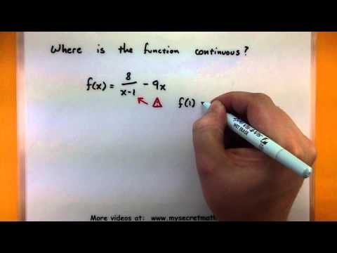 Calculus - Continuous functions