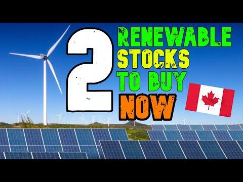 2 Renewable Energy Stocks To Buy Right Now
