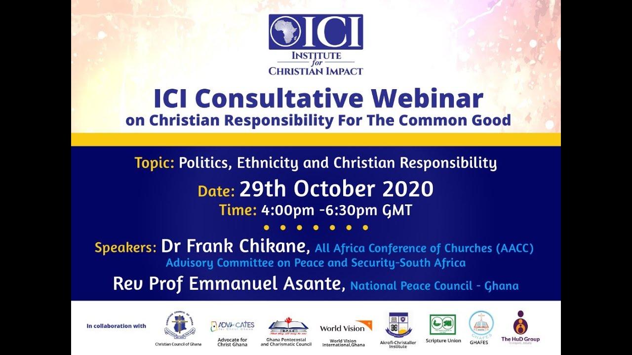 Politics, Ethnicity & Christian Responsibility