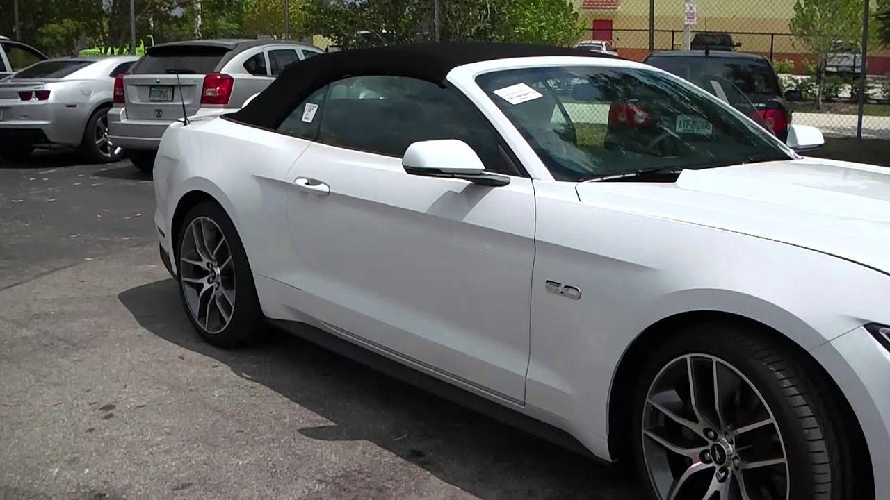 2015 ford mustang gt convertible youtube