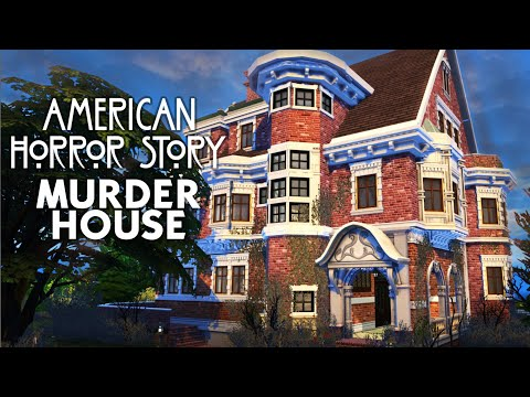 MURDER HOUSE - AMERICAN HORROR STORY #Simhain2020 | Sims 4 Speed Build