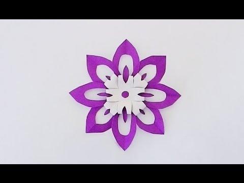 Kirigami flower 1/ ตัดกระดาษเป็นรูปดอกไม้ 1