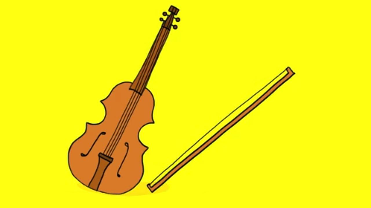 apprendre dessiner un violon youtube. Black Bedroom Furniture Sets. Home Design Ideas