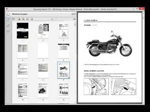 Hyosung Aquila 125  Service Manual     Wiring       Diagram     Parts Catalogue  YouTube