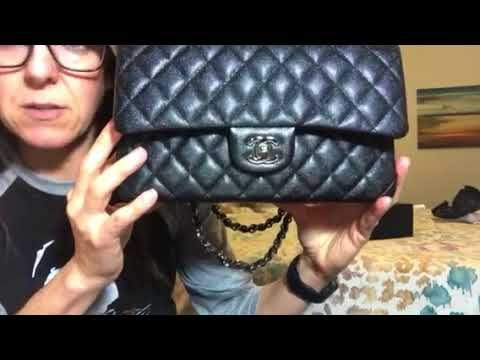 21accc5b5daf Reveal of my Chanel 18C Iridescent Caviar Classic Flap Bag!!! - YouTube