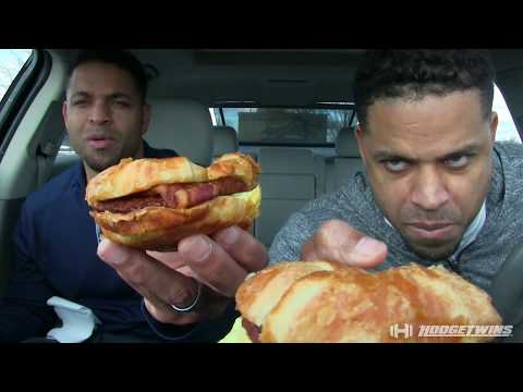 Eating King Croissanwich With Sausage & Bacon @hodgetwins