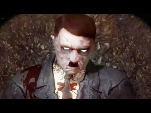 "KILLING HITLER BOSS EASTER EGG! ""Call of Duty Zombies"" Das Herrenhaus Custom Map Walkthrough"