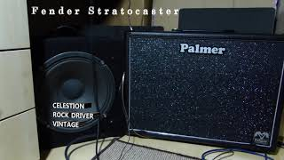 Home made cabinet with Celestion Rockdriver speaker vs Palmer MI with Celestion Vintage 30 speaker.
