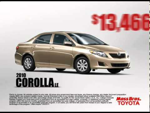 January 2011 Moreno Valley Auto Mall Toyota Commercial. Moss Bros.
