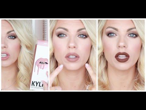 Kylie Jenner Lip Kit   Lip Swatches & Colour Pop Dupe Comparisons