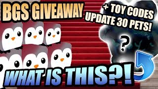 Bubble Gum Simulator Live Giveaway NEW UPDATE 30 🎁 Penguins 💰 Mystery Pets! (Roblox 2019)