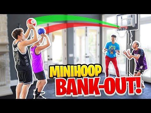 Insane Mini-Hoop Knockout BANK Basketball Challenge! *Funny Jiedel Rage*