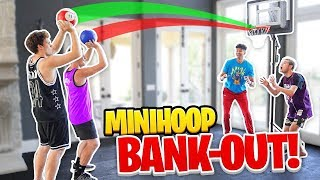 Insane Mini-Hoop Knockout BANK Basketball Challenge! *Funny Jiedel Rage*