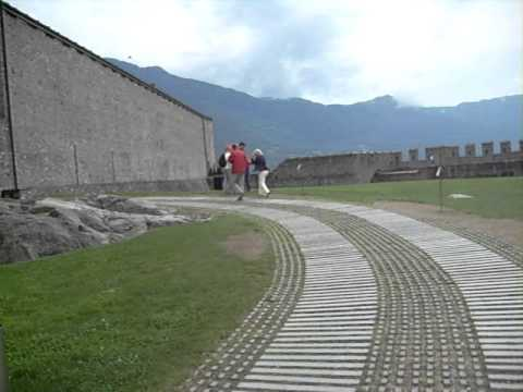Switzerland - Bellinzona - The Murata or City wall of Bellinzona