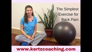 The Simplest Exercise for Back Pain