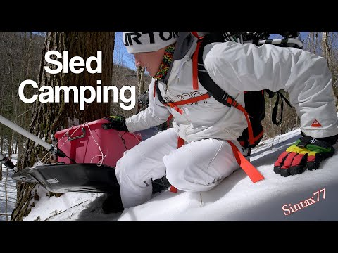 Winter Camping With A Pulk Sled - Adirondacks Deep Snow & Icy Summits
