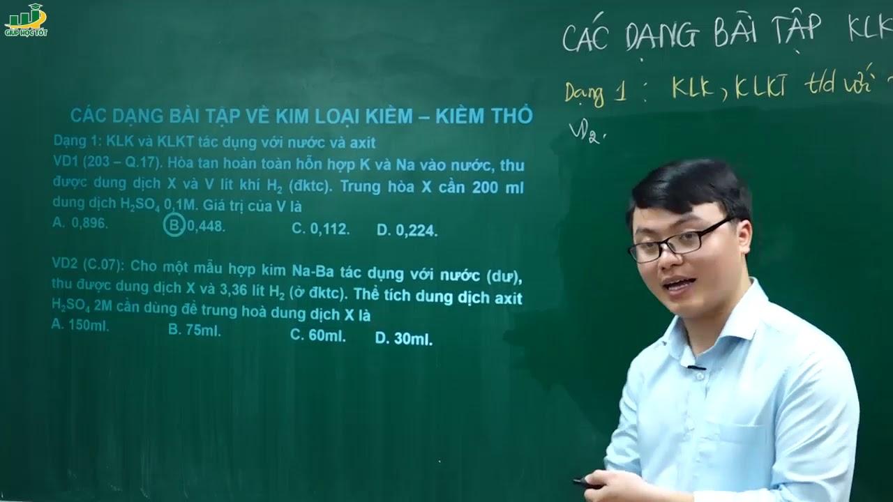 Hóa Học Lớp 12 – Bài giảng Lý thuyết  kim loại kiềm thổ và hợp chất   Thầy Trần Thanh Bình