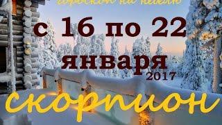 СКОРПИОН гороскоп на неделю с 16 по 22 января 2017 года