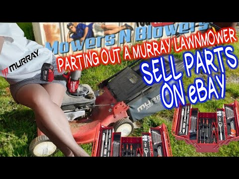 PARTING OUT A FREE MURRAY PUSH LAWNMOWER LAWN MOWER  WITH BENT CRANKSHAFT FOR PARTS TO SELL ON EBAY