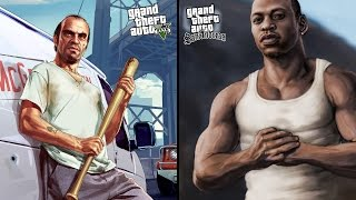Gta 5 vs Gta San Andreas | COMPARISON |