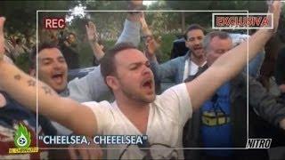 El Chiringuito de Jugones - El Chiringuito, con los aficionados del Chelsea