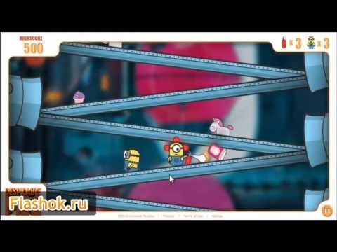 Flashok Ru  онлайн игра Гадкий я 2  Видео обзор флеш игры Despicable Me 2  Minion Rush