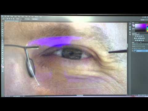 How to remove color from glasses in Photoshop