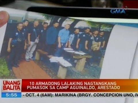 UB: 10 armadong lalaking nagtangkang pumasok sa Camp Aguinaldo, arestado