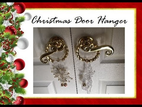 2 Christmas Door Hangers DIY (Dollar Tree)