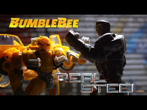 Transformers Stop Motion Film : Bumble Bee And Atom From Real Steel | Figure Fight 트랜스포머 피규어 스톱모션