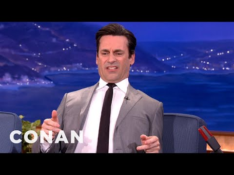 Jon Hamm Was A DirtPoor, Stinky Rollerblader  CONAN on TBS