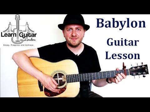 Babylon Guitar Lesson David Gray How To Play Chords Rhythm