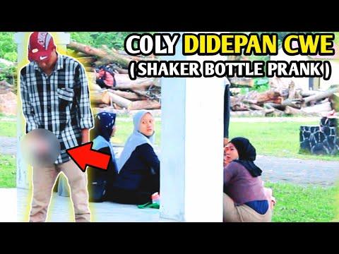 PRANK C0LY DIDEPAN CWE AUTO NGAKAK !! SHAKER BOTTLE | PRANK INDONESIA
