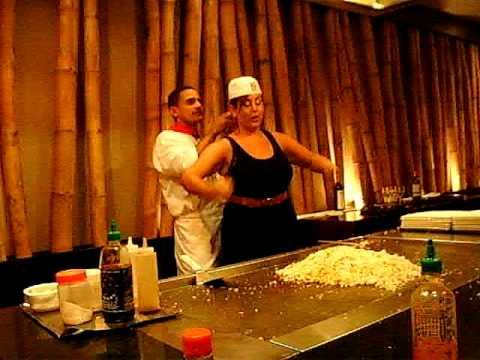 Dreams Palm Beach , Friends at Hibachi Restaurant