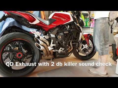 MV Agusta Brutale 800 rr QD Exhaust sound check