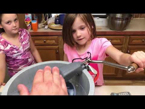 Making Ice Cream, Cottage Craft Works Lifetime Freezer