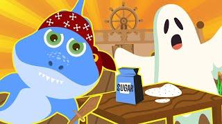 SHARK GHOST Baby Shark Johnny Johnny Song Halloween Baby Shark Song Nursery Rhymes Songs for Kids